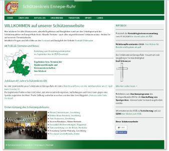 Website Schützenkreis EN - PC-Ansicht
